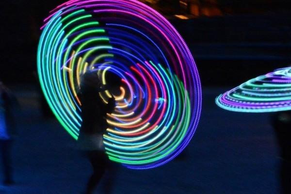 Mangledwire LED hula hoops